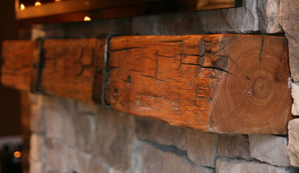 All Things Texan Relaimed Wood Mantle