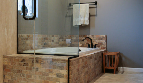 Natural Stone Master Bath View 6