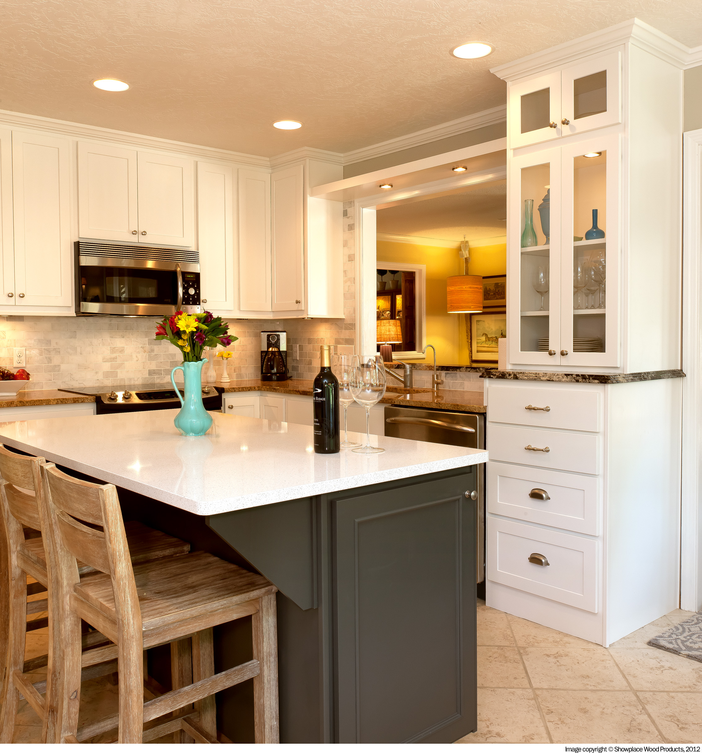Kitchen cabinets refinishing springfield il roselawnlutheran for Cabinets before and after