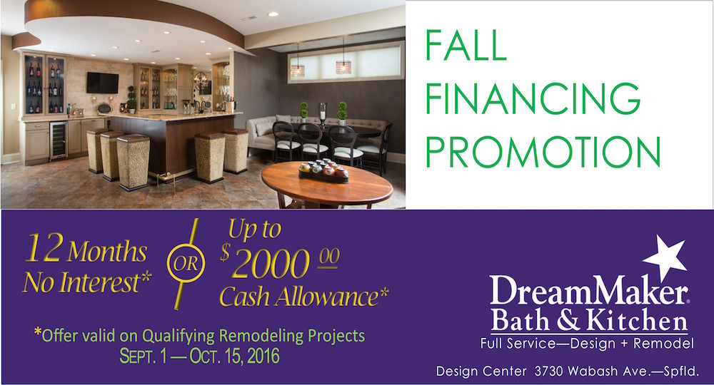 DreamMaker Springfield September Financing Offer
