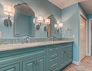 Beach vibes master bathroom