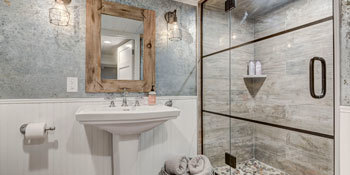 Remodeled Basement Bathroom