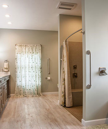 Newly renovated accessible master bathroom