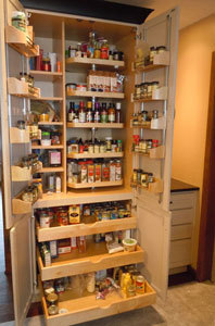 Sleek spice rack storage