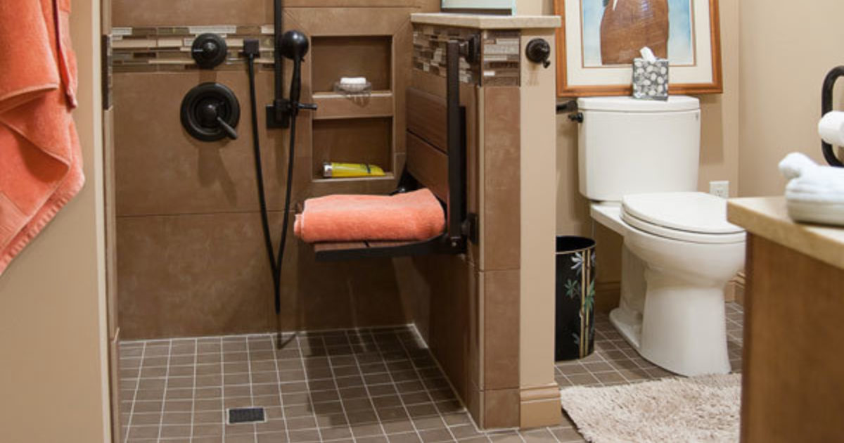 Beautiful 9 X 8 Accessible Bathroom Contemporary Accessibility