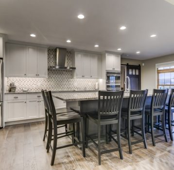 Open Concept White Kitchen Remodel