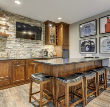 Sophisticated Basement Bar