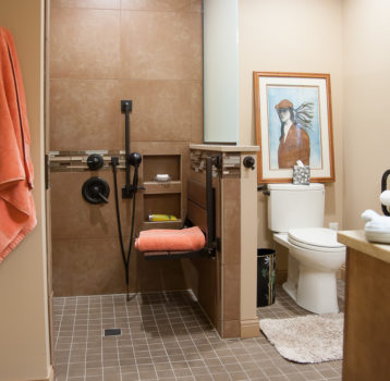 Beautiful 9 x 8 Accessible Bathroom