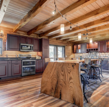 Log Home Custom Kitchen Remodel
